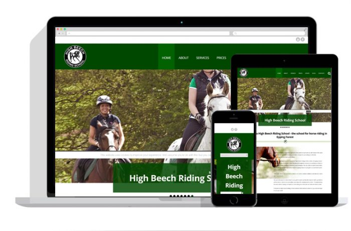 High Beech Riding School Website