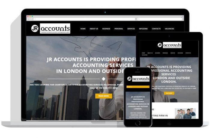 JR Accounts Website