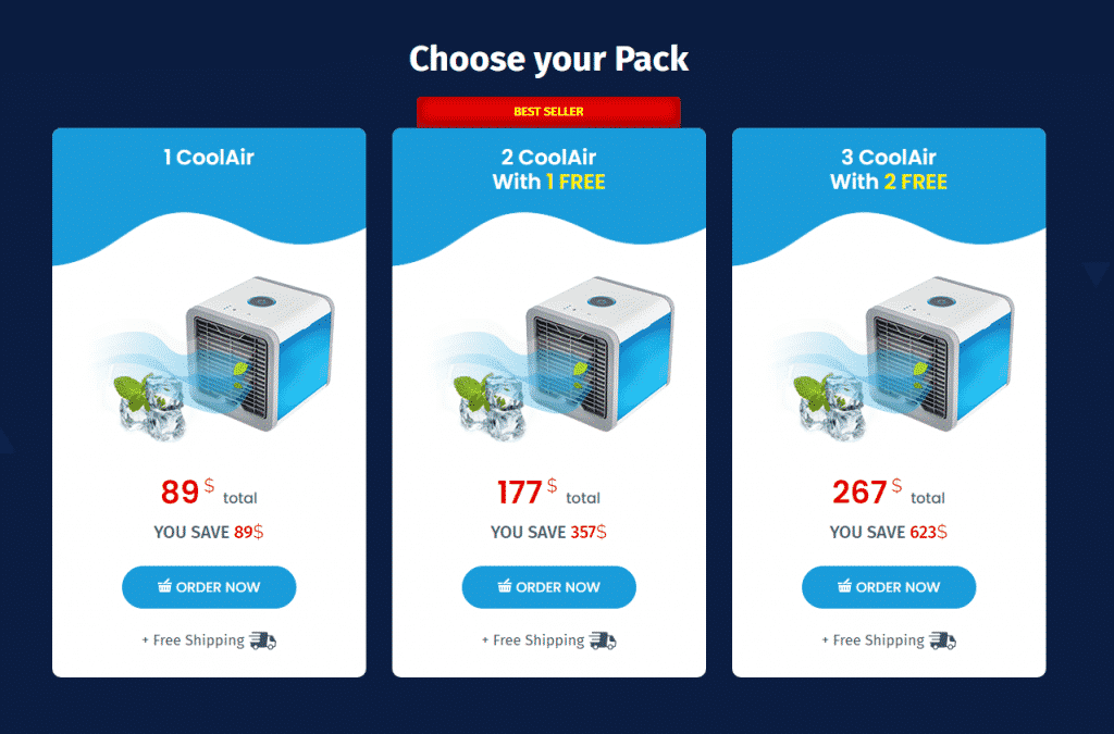 Coolair pricing