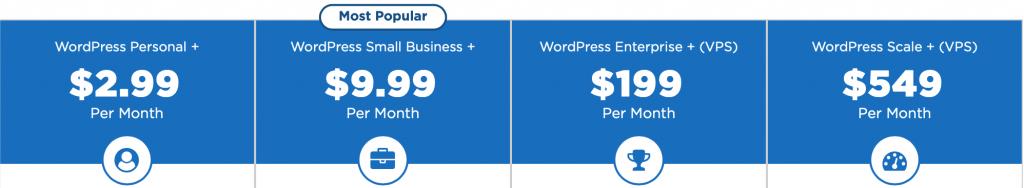 accuwebhosting-wordpress-plans