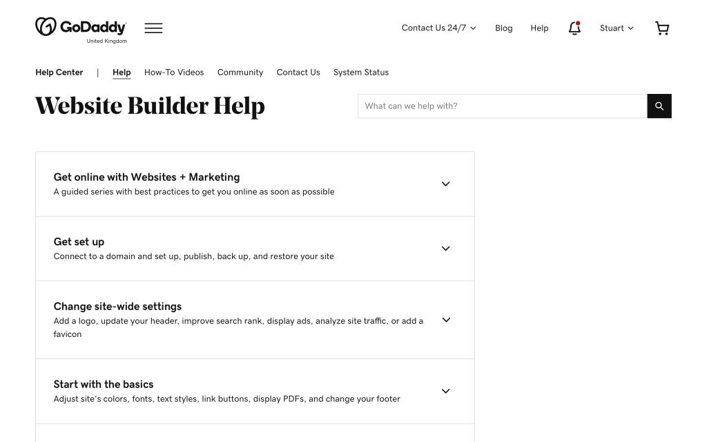 godaddy-website-builder-help