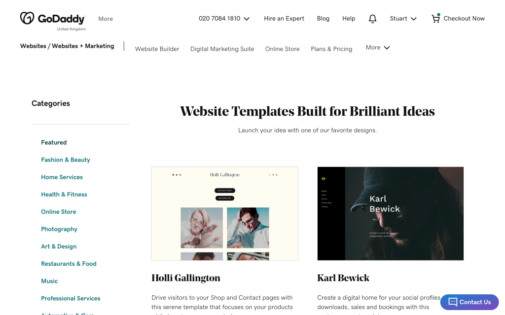 godaddy-website-builder-templates