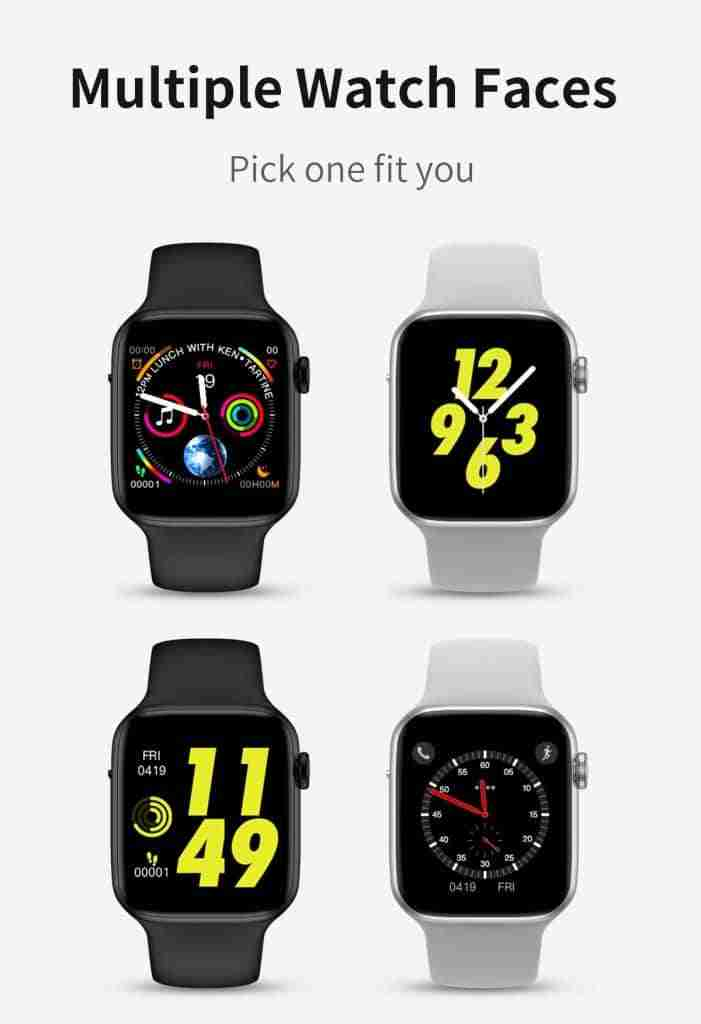 different watch faces for the xwatch