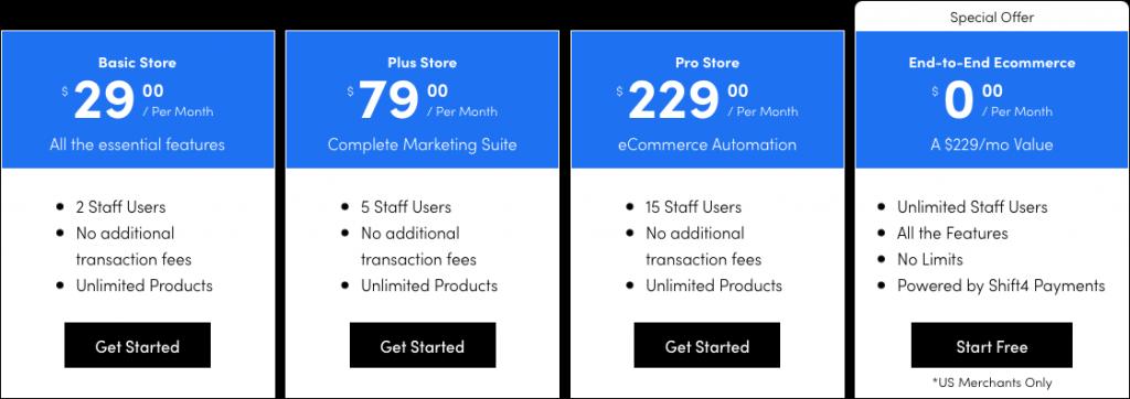 shift4shop-pricing
