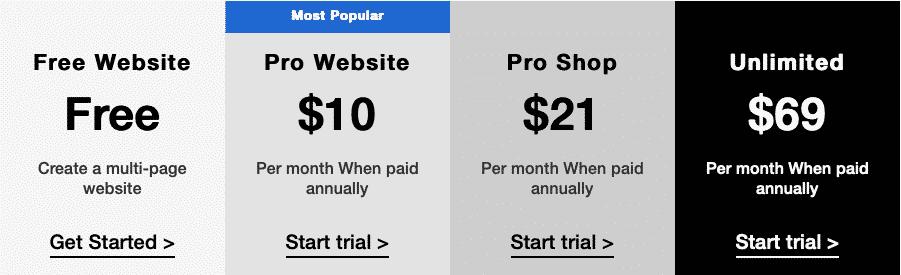 ucraft pricing