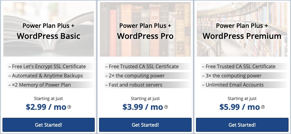 webhostingpad-wordpress-plans