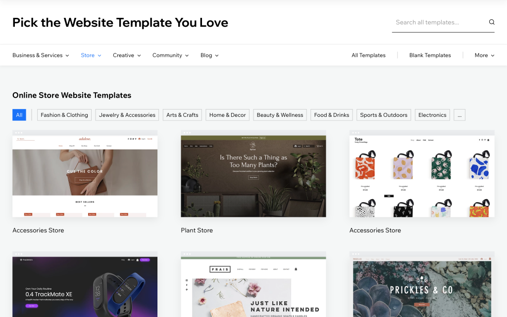 wix-online-store-templates