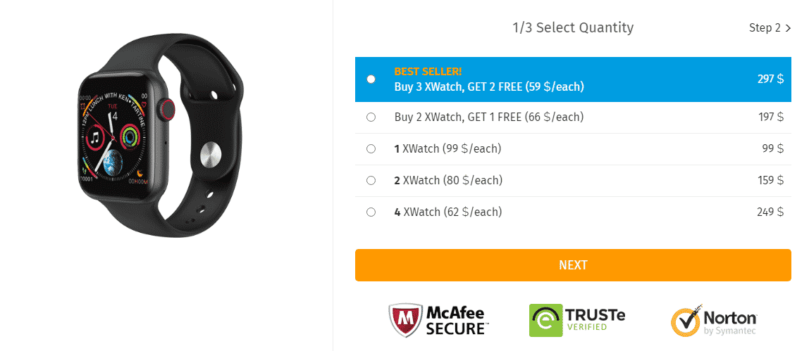 prices of the xwatch smartwatch